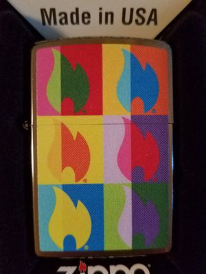 Zippo abstract flame design brushed chrome 29623 for Sale in Los Angeles, CA