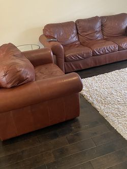 Leather Couch and Love Seat- Free for Sale in Carnation,  WA