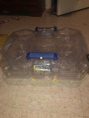 BeyBlade set comes with two stadiums, 12 beyblades , and 3 launchers for Sale in Laurel, DE