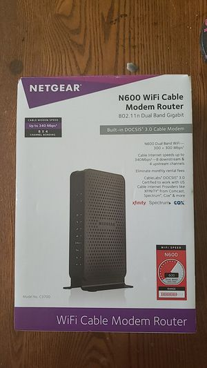 Netgear N600 WiFi Cable Modem Router for Sale in Atlanta, GA