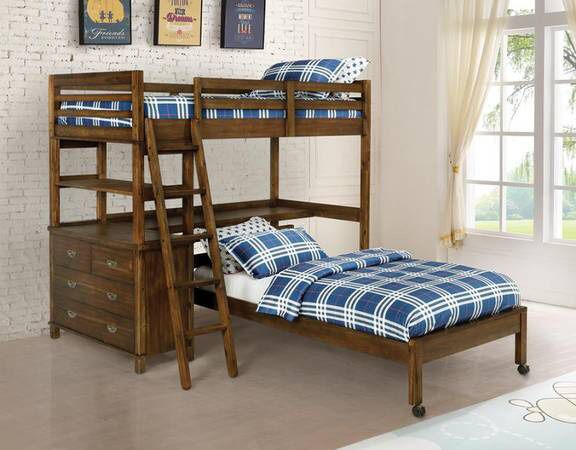 Workstation Twin/Twin Bunk Bed $575 SALE! Best Deal!