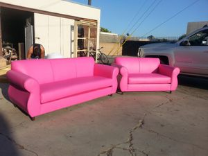 NEW PINK LEATHER COUCHES for Sale in Imperial Beach, CA