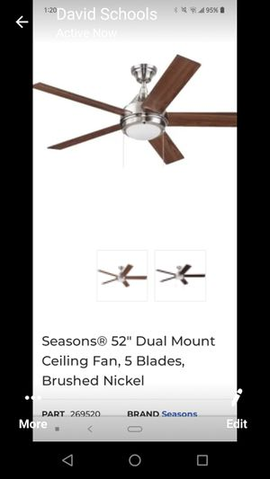 New still in box Seasons 52 .LED Brushed Nickel Fan must pick up for Sale in Washington, DC