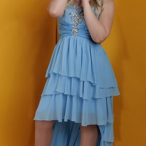 Blue Tiered Ruffle Prom Dress for Sale in Boulder City, NV