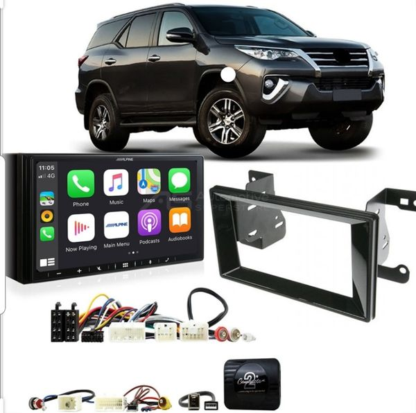 "Pioneer Double-DIN Receiver, 4x Kicker 6.5"" Speakers, Installation Accessories + led light car audio Package dea"