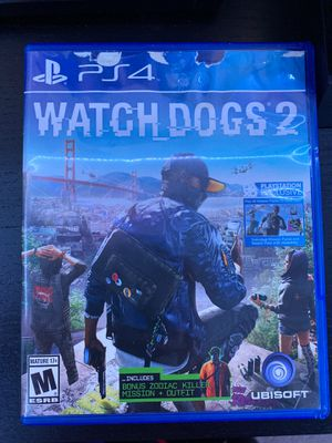 Watch dogs 2 (PS4 game) for Sale in Southwest Ranches, FL