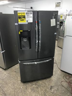 New black stainless Samsung 26 cu Ft French door bottom freezer new for Sale in La Mesa, CA