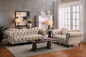 🌲Homelegance St. Claire Beige Button-Tufted Living Room Set for Sale in Fairfax, VA