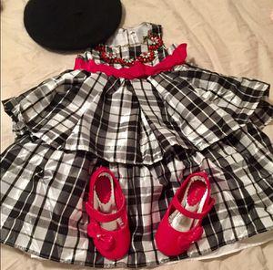 NWOT, 3T, Girl, Cherokee Black, Silver & Red Plaid Formal Dress for Sale in Bountiful, UT