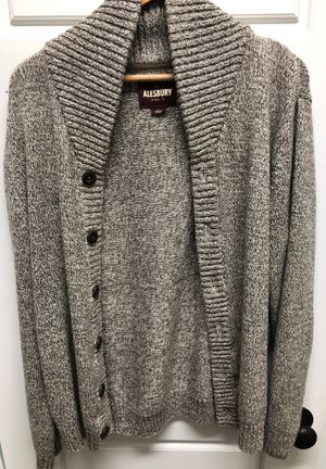 Alesbury Mens Large Sweater Jacket Grey for Sale in Rock Hill, SC