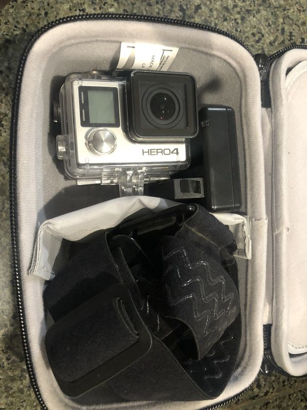 Gopro hero 4 with case and extras