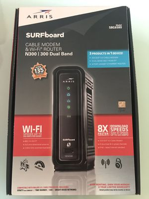 ARRIS SURFBOARD MODEM WIFI ROUTER N300 300 DUAL BAND SBG6580 for Sale in Homestead, FL