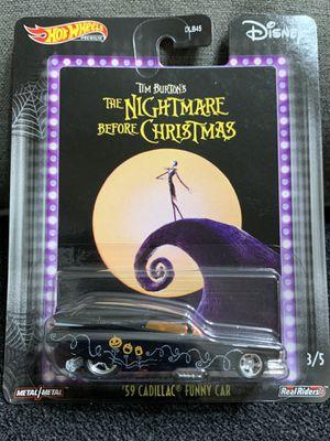 "Hot wheels premium '59 Cadillac Funny Car ""The Nightmare Before Christmas for Sale in Tamarac, FL"
