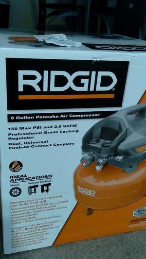 BrandNewRidgid6GallonPancakeAirCompressor/WithReceipt for Sale in Elk Grove, CA