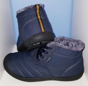 Men (7.5-8) and Women(9-9.5) Snow Boots Fur Lined Winter Outdoor Slip On Shoes for Sale in Largo, FL
