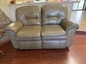 Reclining Leather Couch with Reclining love seat for Sale in Stuart, FL