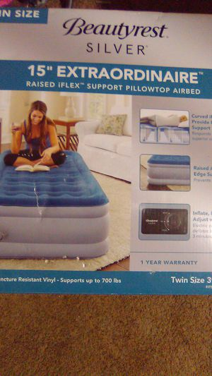 Beautiful Rest Silver Twin Air Mattress with built in pump for Sale in KIMBERLIN HGT, TN