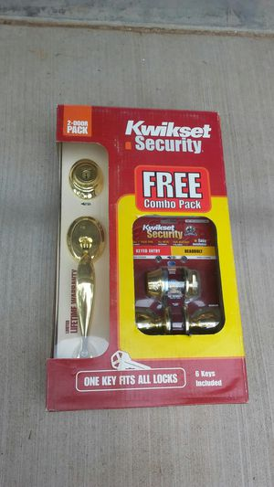Kwikset combo pack and single lock -Gold for Sale in Pinetop, AZ
