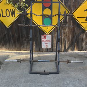 Weight Bar Rack For Curl Bars Or Barbell for Sale in Pomona, CA