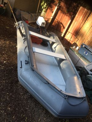 Zodiac inflatable boat 12ft with Honda outboard for Sale in Topanga, CA