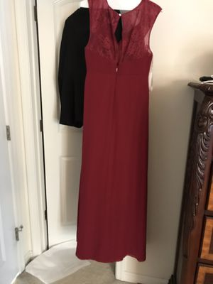 Azazie bridesmaid dress burgundy size 8 for Sale in Ashburn, VA