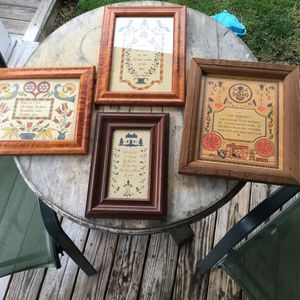 4 Scherenschnitts Country Folk Art Kitchen Blessings in frames, Calico Apple Gift Shop. for Sale in Riverton, VA