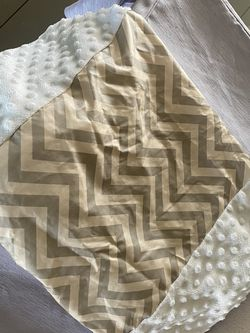 Grey Chevron Changing Table Cover for Sale in Palm Desert,  CA