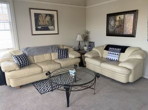 Leather couch and matching love seat for Sale in San Francisco, CA