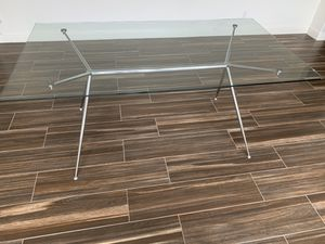 Like NEW Living Spaces Glass Dining Table for Sale in Yorba Linda, CA