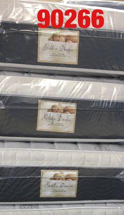 """12"""" thick pillow top mattress. Twin Mattress only-$185 Mattress & box spring-$220 Full Mattress only-$255 Mattress and box spring-$285 Queen Matt for Sale in Manhattan Beach,  CA"""