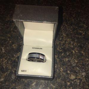 Men's Titanium/Opal Ring for Sale in Columbia, SC