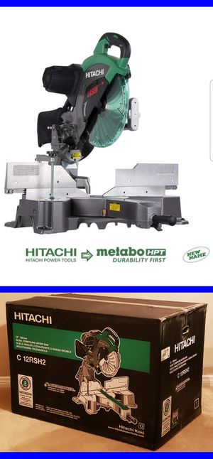 Brand New Hitachi C12RSH2 15-Amp 12-Inch Dual Bevel Sliding Compound Miter Saw with Laser Marker for Sale in Bakersfield, CA