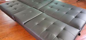 Faux Leather Futon for Sale in Mount Dora, FL