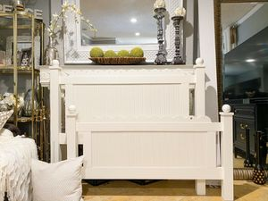 Farmhouse White Ornate Full Size Bed Frame for Sale in Covina, CA