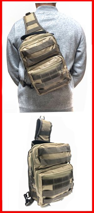 NEW! Tactical military style side crossbody sling chest travel work bag gym hiking biking fishing backpack for Sale in Carson, CA