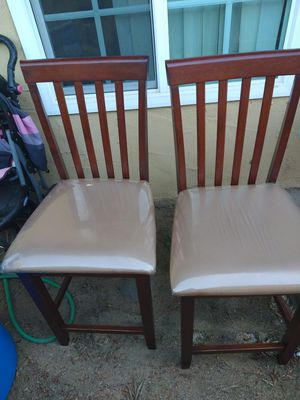 Two tall chairs for bar or kitchen table for Sale in Fresno, CA