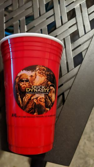 Duck Dynasty Hard Plastic Solo Cups - 4- 6 packs for Sale in West Warwick, RI
