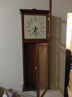 Antique Clock pendulum chimes on the half and hour for Sale in Los Angeles, CA