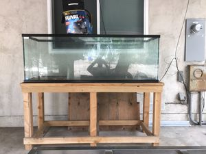 200 gal maybe more aquarium with stand and water filter for Sale in La Mesa, CA