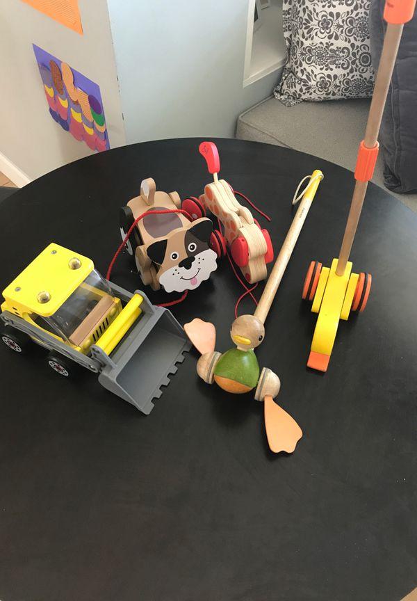 Toys - PB Kids, Hape, Plan, and Melissa and Doug wooden toys