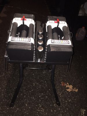 5-50lbs powerblock dumbbells with stand for Sale in Boyertown, PA