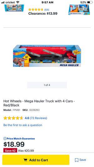Mega hauler hot wheels for Sale in Richmond, VA
