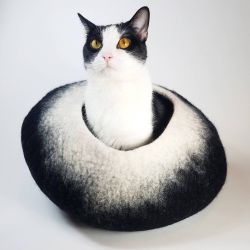 Charcoal & White Cat Cave / Pet Bed for Sale in Seattle,  WA