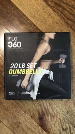 Flo 360 20 LB Dumbbell set for Working Out at Home and Weight Lifting for Sale in Chicago, IL