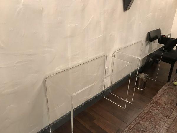 (2) Peekaboo Acrylic Consol Table
