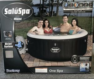 Bestway SaluSpa Miami Inflatable Hot Tub, 4-Person AirJet Spa for Sale in Naperville, IL