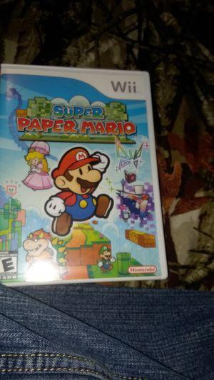 Super Paper Mario Nintendo Wii complete in box for Sale in Waterbury, CT
