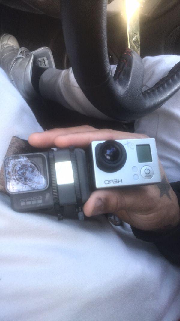 2 Go Pros. GoPro 5 Hero Black , GoPro Hero3