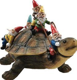 Garden Gnome Turtle Statues Yard Art Resin Figurine Decorations Outdoor Garden Décor for Sale in Tulsa,  OK