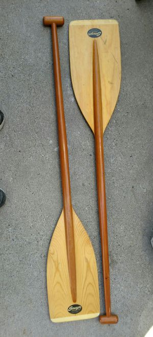 Pair LNew Sawyer Wooden Canoe Paddles Boat Oars for Sale in West Valley City, UT